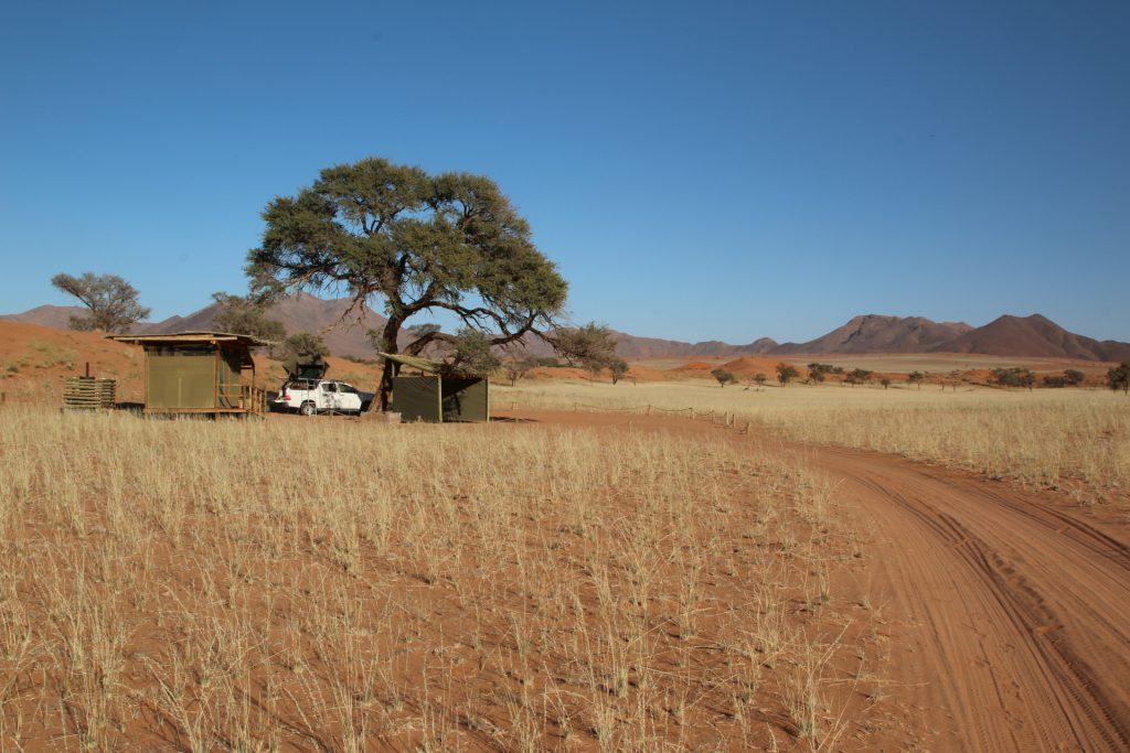 Dachzelten im Nature Dark Reserve in Namibia